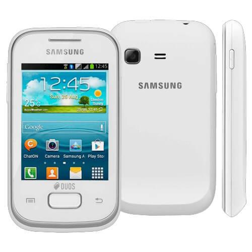 "Smartphone Samsung Galaxy S6312 Branco Dual Chip - 3MP - Bluetooth - 3G - Wi-Fi - 3"" - Android 4.1"