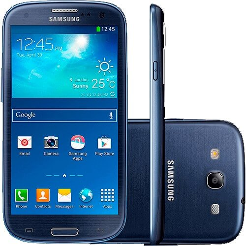 "Smartphone Samsung Galaxy S3 GT-I9305 Azul - 4G LTE - 16GB - 4.8"" - 8MP - Android 4.1"