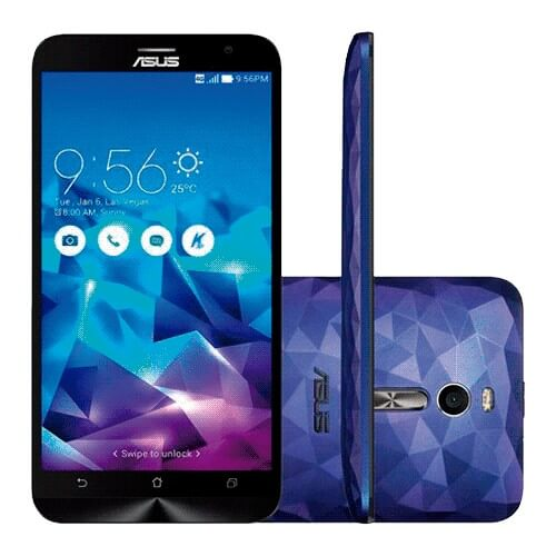 "Smartphone Asus Zenfone 2 Deluxe ZE551ML-2A740WW - Intel Z3580 2.3GHZ - Android 5.0 - Tela 5.5"" - 128GB - 13MP - 4GB - Roxo"