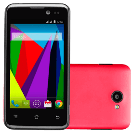 "Smartphone CCE SK412 - Rosa - 4GB - 5 MP - 3G - Tela 4"" - Android 4.3"