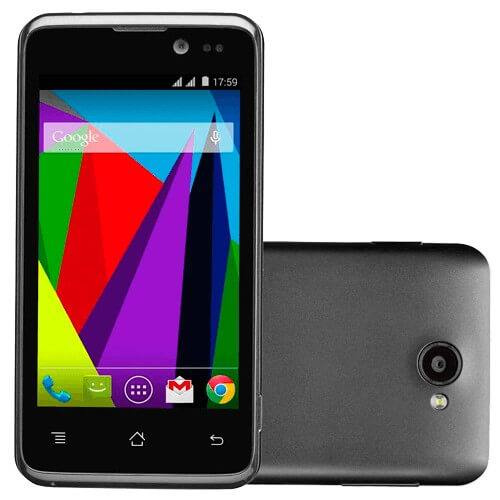 "Smartphone CCE Motion SK412 - Preto - 4GB - Dual-Chip - 5 MP - Tela 4"" - Android 4.3"