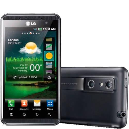 "Smartphone LG Optimus 3D P920 Preto - 5MP - 8GB - Desbloqueado - Tela 4.3"" - Android 2.2"
