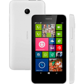 "Smartphone Nokia Lumia 635 Branco - 5MP - 8GB - Desbloqueado - Tela 4.5"" - Windows Phone 8."