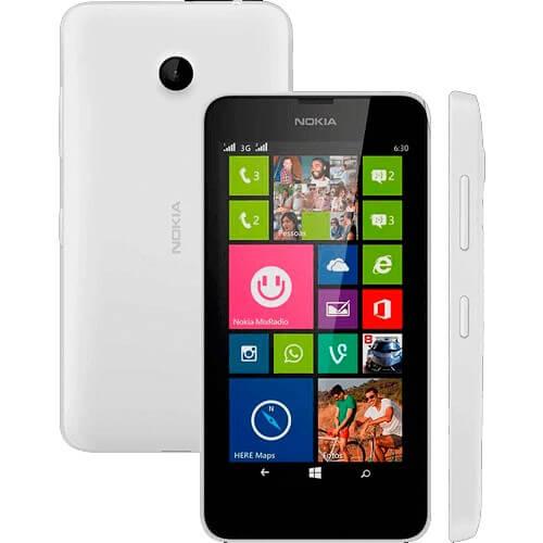 "Smartphone Nokia Lumia 635 Branco - 5MP - 8GB - Desbloqueado - Tela 4.5"" - Windows Phone 8."