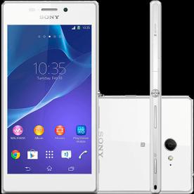 "Smartphone Sony Xperia M2 D2303 Branco - 8MP - Desbloqueado - Tela 4.8"" - Android 4.3"