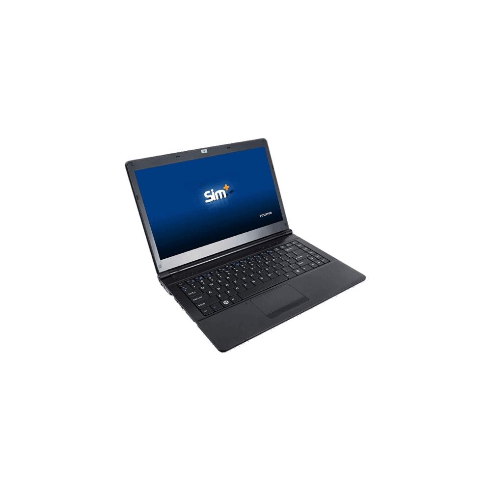 "Notebook Positivo Sim 4990M - Intel Core i3-3110M - RAM 2GB - HD 250GB - Tela 14"" - Windows 8"