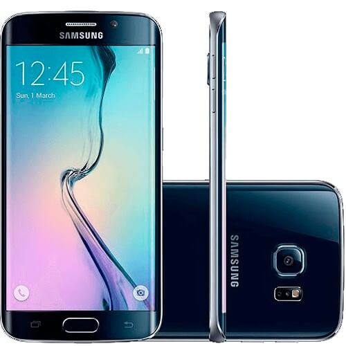 "Smartphone Samsung Galaxy S6 Edge Preto - 64GB - 4G LTE - Octa Core - Câmera 16MP - Super AMOLED 5.1"" - Android 5.0"