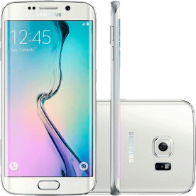 "Smartphone Samsung Galaxy S6 Edge Branco - 64GB - 4G LTE - Octa Core - Câmera 16MP - Super AMOLED 5.1"" - Android 5.0"
