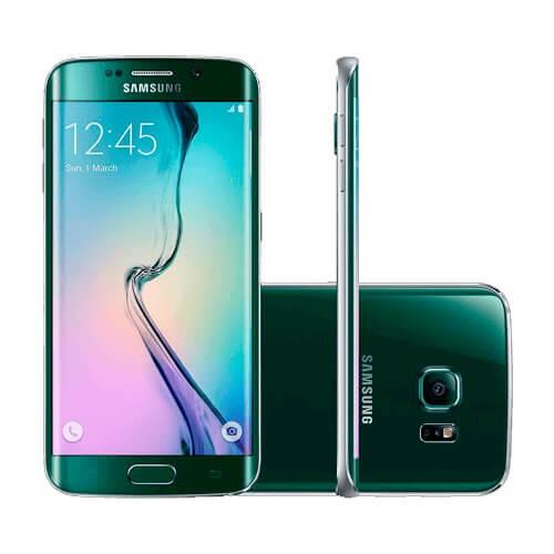 "Smartphone Samsung Galaxy S6 Edge Verde - 32GB - Octa Core - Câmera 16MP - 4G LTE - Super AMOLED 5.1"" - Android 5.0"