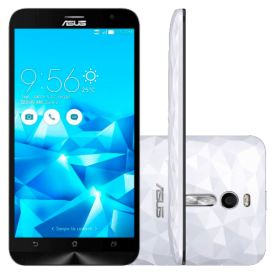 "Smartphone ZenFone 2 Deluxe Asus ZE551ML-2B741WW - Intel Z3580 2.3GHz - 128GB - 4G LTE - 5.5"" - 13MP - Android 5.0 - Branco"