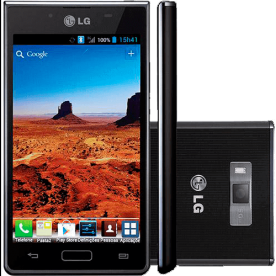 "Smartphone LG L7 P705 - 3G - Android 4.0 - 4GB - 5 MP - Bluetooth - Wi-Fi - Tela 4.3"" - Preto"