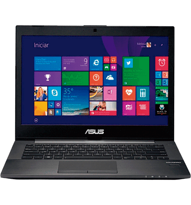 "Notebook Asus PU401LA-WO074P - Intel Core i5-4200U - RAM 6GB - HD 500GB - LED 14"" - Windows 8 - Preto"