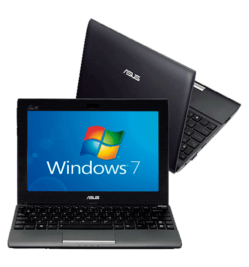 Netbook Asus 1025C-GRY059S - Intel Atom Dual Core N2600 - RAM 2GB - HD 500GB - Tela LED de 10.1'' - Cinza - Windows 7 Starter