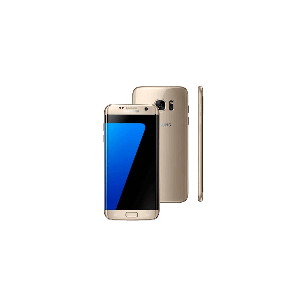 "Smartphone Samsung Galaxy S7 Edge Dourado - 32GB - 4G - 12MP - 5.5"" - Android 6 Marshmallow"