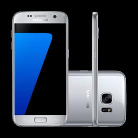 "Smartphone Samsung Galaxy S7 SM-G930 Prata - 12MP - 32GB - 5.1"" - 4G - Android 6.0"