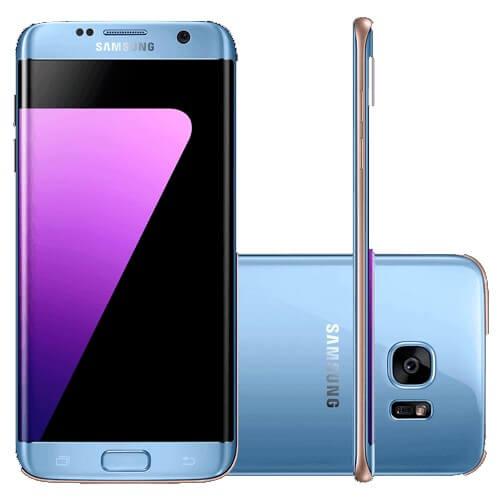"Smartphone Samsung Galaxy S6 Edge Plus Azul - 32GB - 4G - 16MP - 5.7"" - Android 5.1"