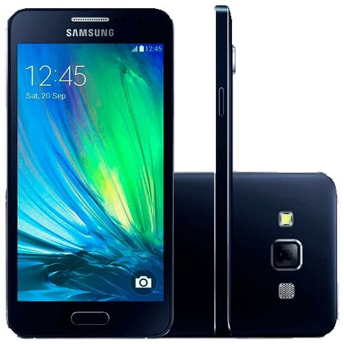 "Smartphone Samsung Galaxy A7 4G - A700FD - Duos - 16GB - Tela 5.5"" - Preto"