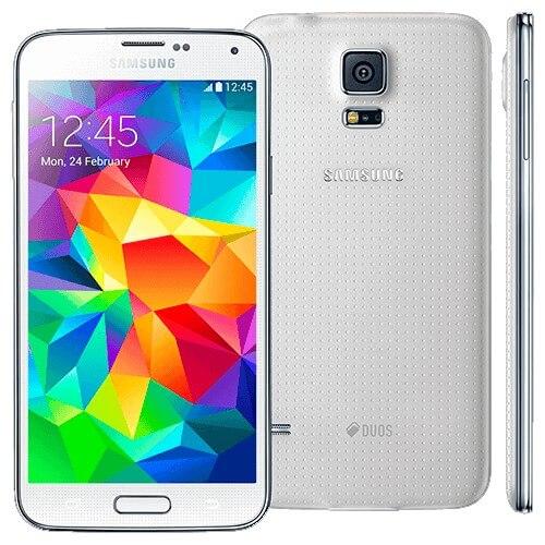 "Smartphone Samsung Galaxy S5 Duos SM-G900MD - 4G - 16GB - Tela 5.1"" - NFC - Branco"