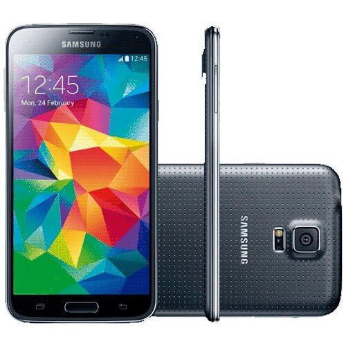"Smartphone Samsung Galaxy S5 Preto - 4G - RAM 2GB - 16GB - 16MP - Android 4.4 - Quad-Core - Tela 5.1"" - Desbloqueado"