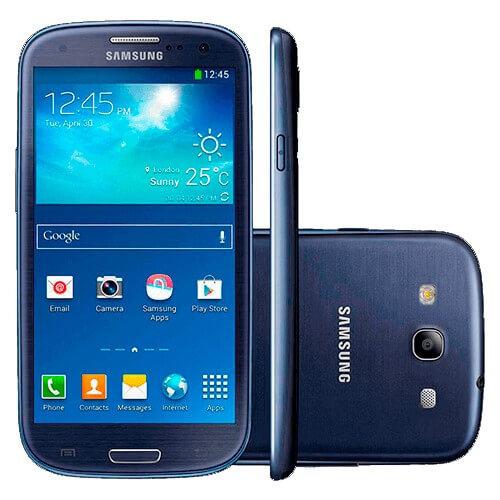 "Samartphone Samsung Galaxy S Duos - Azul - 4""- Bluetooth - Wi-fi - Câmera 5MP"