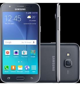 "Smartphone Samsung Galaxy J5 - 4G - Preto - Dual-Chip - 16GB - Tela 5"" - Câmera 13MP"