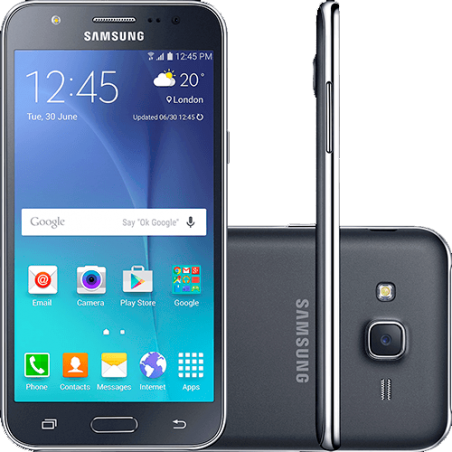 "Samartphone Samsung Galaxy J5 - 4G - Preto - Dual-Chip - 16GB - Tela 5"" - Câmera 13MP"