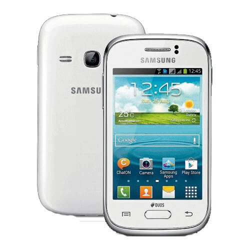 "Smartphone Samsung Galaxy S Duos Branco - Dual Chip - 3G - 5MP - Tela 4"" - Dual Core - GT-S7562l - Android 4.0"