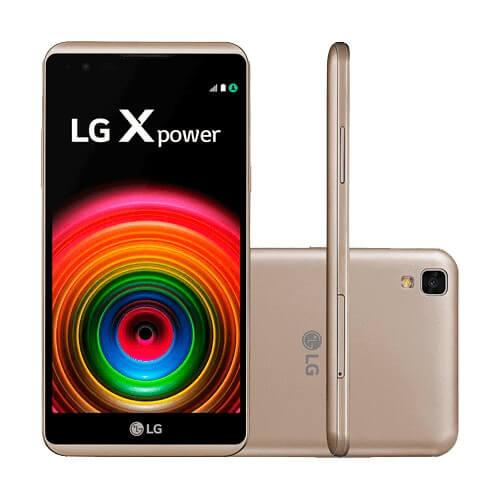 "Smartphone LG X Power Dourado K220 - 16GB - 4G LTE - Android 6.0 - Tela 5.3"""