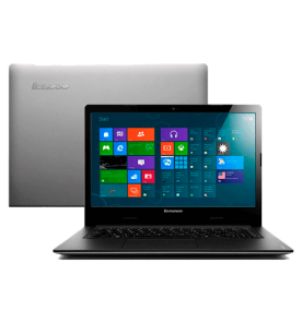 "Notebook Lenovo S400-80BY0003BR - Intel Core i3-3217U - RAM 4GB - HD 500GB - LED 14"" - Windows 8 - Prata"