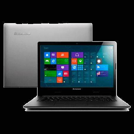 "Notebook Lenovo S400-80BY0003BR - Intel Core i3-3217U - RAM 4GB - HD 500GB - LED 14"" - Windows 8 - Prata"