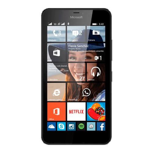 "Smartphone Nokia Lumia 640 Preto - 8GB - Windows Phone 8.1 - Tela 5"""