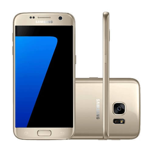 "Smartphone Samsung Galaxy S7 SM-G930 - Dourado - 32 GB - Octa-Core - 4G - 12MP - Tela 5.1"" Android 6.0"