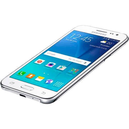 "Smartphone Samsung Galaxy J2 J200M - Branco - Dual-Chip - 8GB - 5MP - 4G - Tela 4.7 Android 5.1 Lollipop"""