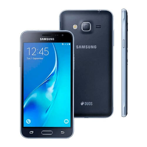 "Smartphone Samsung Galaxy J3 J320M - Preto - 8GB - Dual-Chip - 8MP - Tela 5"" - Android 5.1"