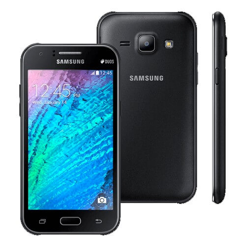 "Smartphone Samsung Galaxy J1 - Preto - Dual-Chip - 5MP - Tela 4.5"" - Android 5.1"