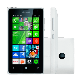 "Smartphone Nokia Lumia 435 - Branco - 8GB - Dual-Chip - 2MP - Tela 4"" - Windows Phone 8.1"