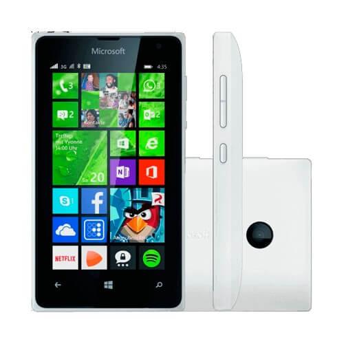 "Smartphone Nokia Lumia 435 - Branco - 8GB - Dual-Chip - 2MP - Tela 4"" - Windows Phone 8.1"