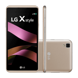 "Smartphone LG X Style K200DSF - Dourado - Dual-Chip - 16GB - 8MP - Tela 5"" - Android 6.0"