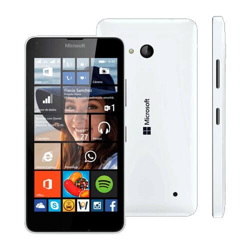 "Smartphone Nokia Lumia 640 - Branco - 8GB - 8MP - Tela 5"" - Windows Phone 8.1"