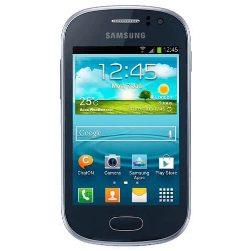 "Smartphone Samsung Galaxy Fame GT-S6810B - Preto - 4GB - 5MP - 3G - Tela 3.5"" - Android 4.1"