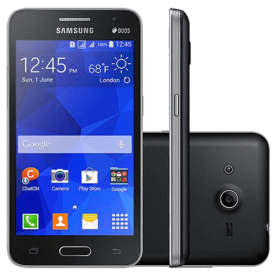 "Smartphone Samsung Galaxy Core 2 G355 - Preto - 4GB - Quad-Core - 5MP - Tela 5.5"" - Android 4.4"