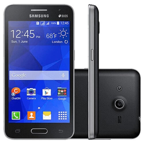 """Smartphone Samsung Galaxy Core 2 G355 - Preto - 4GB - Quad-Core - 5MP - Tela 5.5"""" - Android 4.4"""