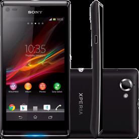 """Smartphone Sony Xperia L C2104 Preto - 8GB - 3G - Wi-Fi - Tela 4.3"""" - 8MP - Android 4.1"""