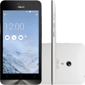 "Smartphone Zen Fone 6 Asus - Dual Core @ 1.6GHz - 32GB - 2GB - Branco - 13MB - Tela 6"" - Android 4.3"
