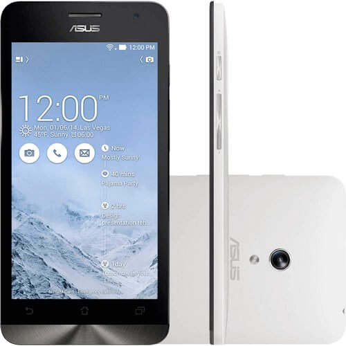 """Smartphone Zen Fone 6 Asus - Dual Core @ 1.6GHz - 32GB - 2GB - Branco - 13MB - Tela 6"""" - Android 4.3"""