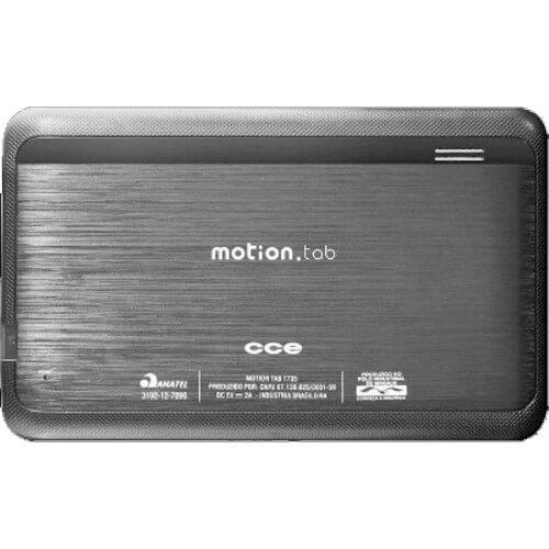 "Tablet CCE Motion Tab T735 - Preto - 4GB - Câmera Frontal - Micro USB - Wi-Fi - Tela 7"" - Android 4.0"