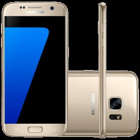 "Smartphone Samsung Galaxy S7 - 32GB - 4G - 12MP - Tela 5.1"" - Android 6.0 - Dourado"