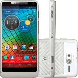 "Smartphone Motorola RAZR XT910 Branco - 8MP - 16GB - Desbloqueado - Tela 4.3"" - Android 2.3"