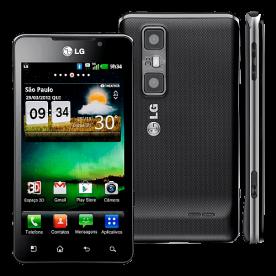 "Smartphone LG Optimus 3D Max P720 Preto - 5MP - 8GB - Desbloqueado - Tela 4.3"" - Android 2.3"