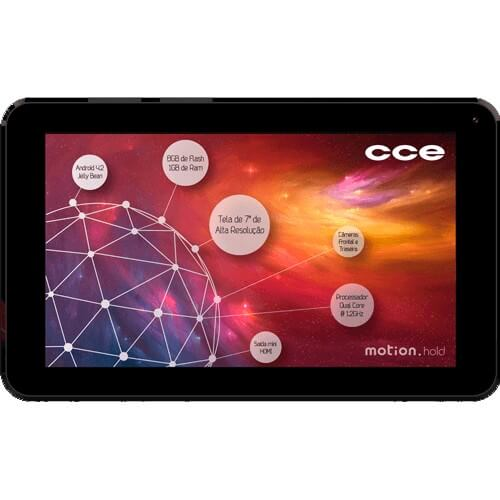 "Tablet CCE Motion TR72P Rosa - Wi-Fi - Câmera 2MP - Tela 7"" - Android 4.2"